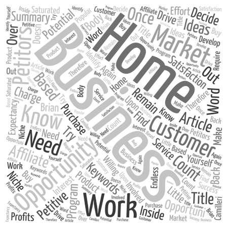 Home Business Ideas Word Cloud Concept Vector