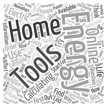 home energy online Word Cloud Concept Vettoriali