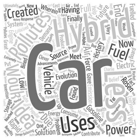 history of hybrid Word Cloud Concept Ilustracja