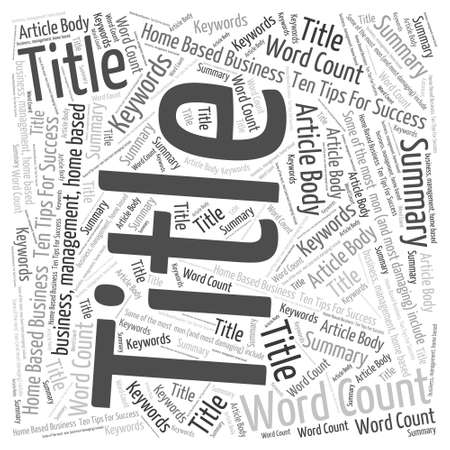 business word: Home Based Business Word Cloud Concept