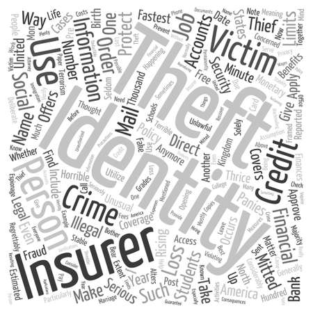 identity theft court Word Cloud Concept Illustration