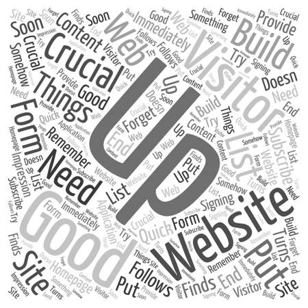 4 Crucial Things Word Cloud Concept Vector