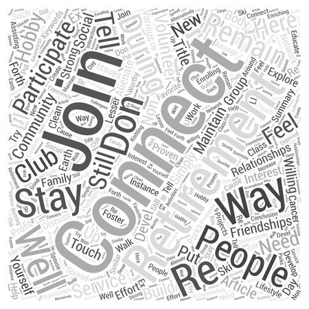 10 Ways To Remain Connected During Retirement  word cloud concept  word cloud concept