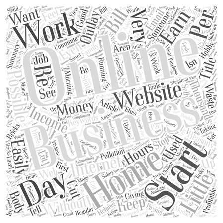 starting a business: 10 reasons for starting a profitable home business online Illustration