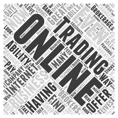 traders: About Online Trading  word cloud concept Illustration
