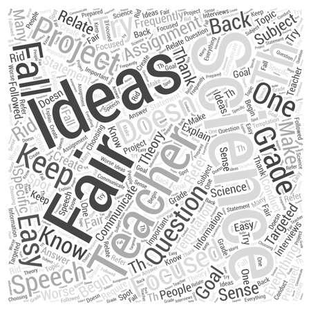 8th grade science fair project ideas  word cloud concept