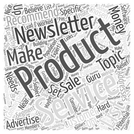 Making Money From Publishing Newsletters  word cloud concept Ilustração