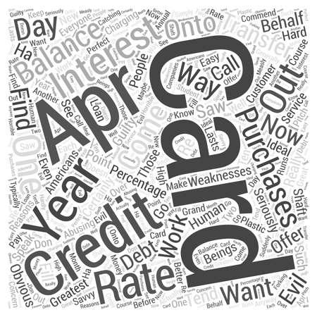 off balance: apr credit cards  word cloud concept