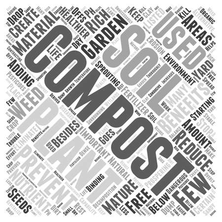 composting: The Benefits of Composting  word cloud concept Illustration