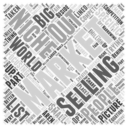 niche: What Niche Marketing is Not  word cloud concept Illustration