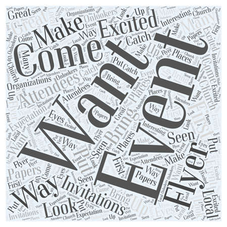 8 Ways To Get Attendees To Your Events  word cloud concept Çizim