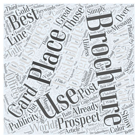10 Ways to Distribute Your Brochures  word cloud concept  イラスト・ベクター素材