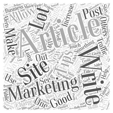 article: Article Marketing Tips  word cloud concept