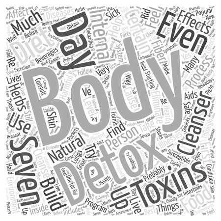 detox: body cleanser detox internal  word cloud concept