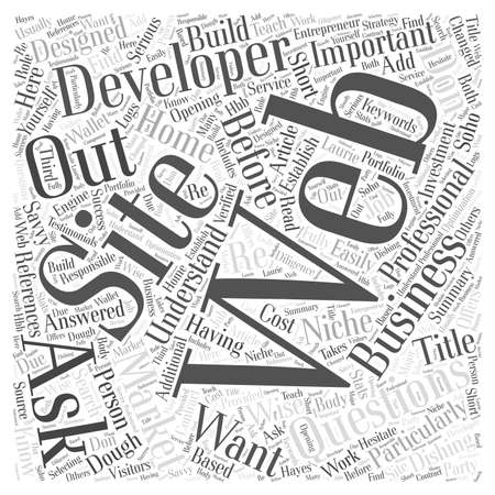 important: Important Questions To Web Developers  word cloud concept Illustration