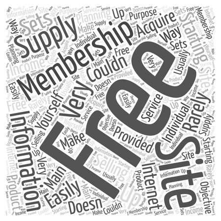 06 Starting a Free Membership Site  word cloud concept Иллюстрация