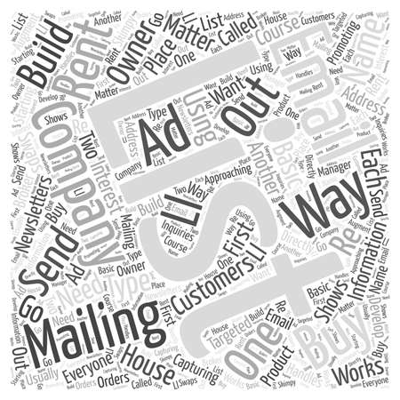 mailing: Have a Mailing List of Your Own  word cloud concept Illustration