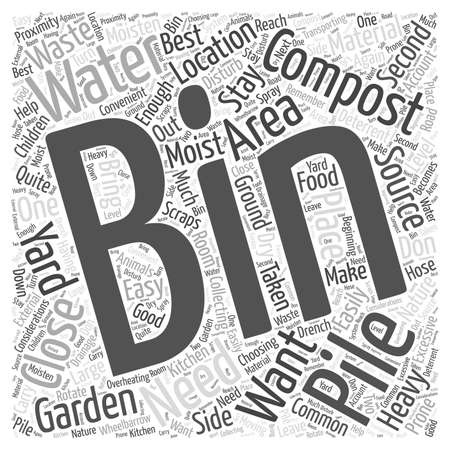 The Best Place for your Composting Bin  word cloud concept Illustration