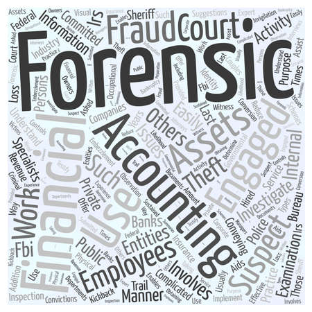 suspected: 24 Who uses forensic accountants