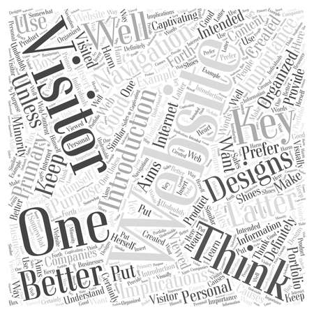 visually: 23 The Key to Better Websites A Navigation word cloud concept Illustration