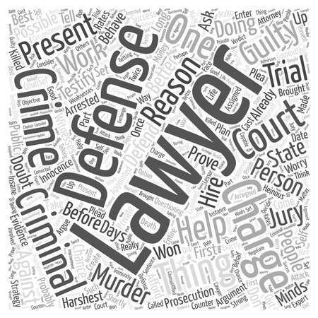 defend: A Criminal Defense Lawyer Can Help You Defend Against Murder Charges Illustration