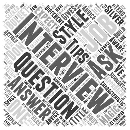 tip style design: Be Aware to the Characteristic of your Interviewer