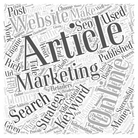 article marketing: Article Marketing Benefits Online Retailers