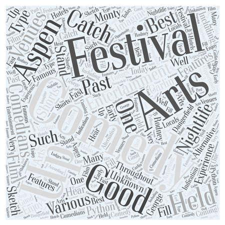 aspen nightlife us comedy arts festival 177 向量圖像
