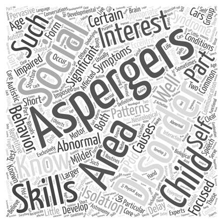 Aspergers Syndrome Stock Illustratie