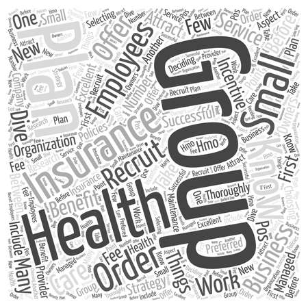 small group of objects: Attract Employees Group Health Insurance Illustration