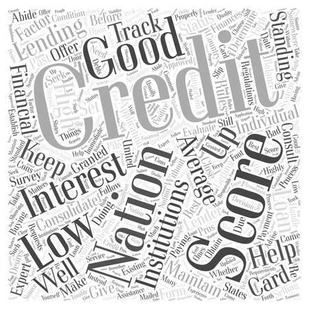 financial institutions: average credit national score
