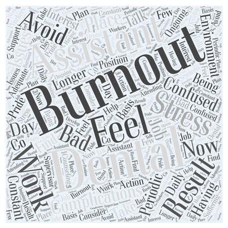 Avoid Burnout as a Dental Assistant Illusztráció