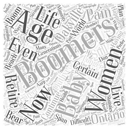 baby boomers pain oakville ontario Illusztráció