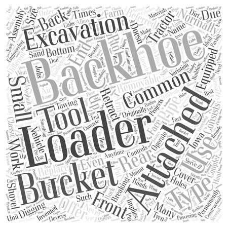 Backhoe Loader Ilustrace
