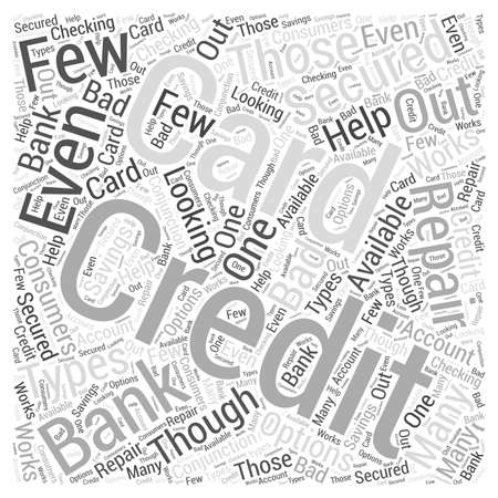 secured: Bank Secured Credit Cards Illustration