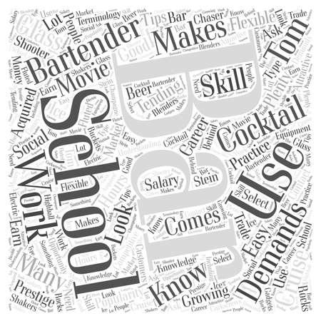 bartender school 23 Vektoros illusztráció