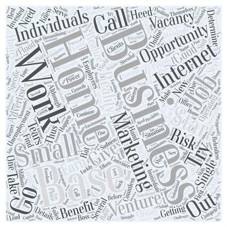 基本ビジネス ホーム インターネット マーケティング機会小  イラスト・ベクター素材
