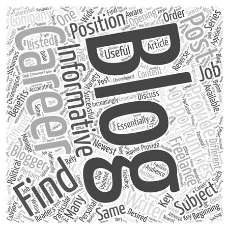 Careers In Blogging Stock Illustratie