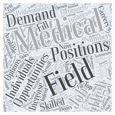 medical field: careers in medical field Illustration