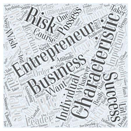 undertaking: characteristics of entrepreneur