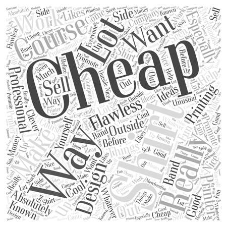 cheap: cheap t shirt 04 Illustration