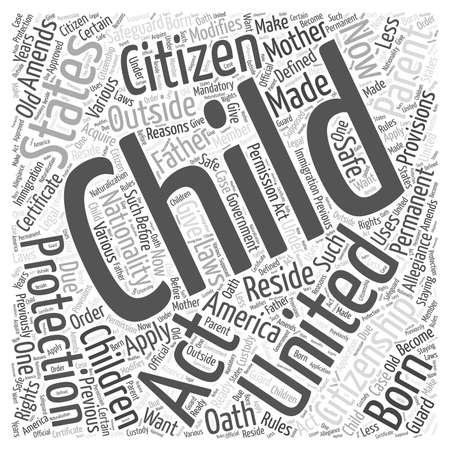 oath: child citizen protection act Illustration