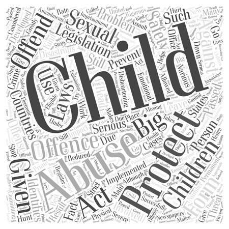 Kinderschutzgesetzgebung Straftat Vektorgrafik