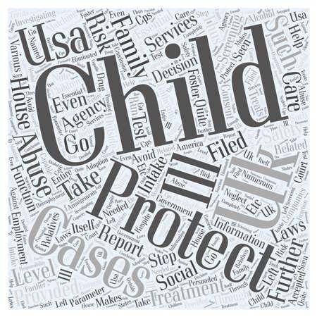 child protection: child protection uk and usa Illustration