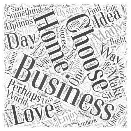 Die Wahl eines Home Business Standard-Bild - 64592754