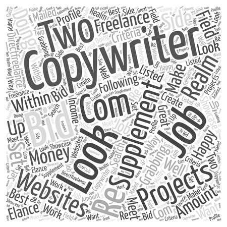 Copywriting Jobs word cloud concept Stock Illustratie