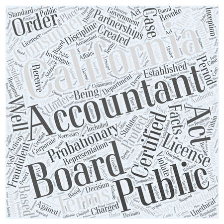 accountancy: About the California Board of Accountancy Illustration