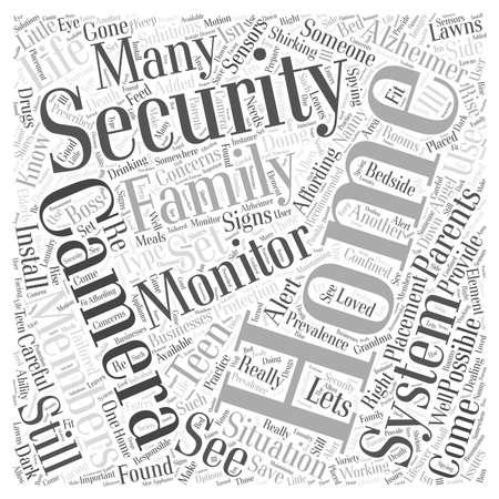 ホーム セキュリティの問題とソリューションの単語の雲の概念  イラスト・ベクター素材