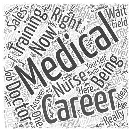 medical career: Career Medical Training Illustration