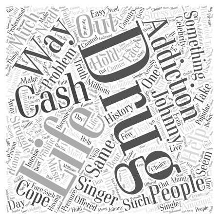 Cash Drug Addiction word cloud concept Çizim